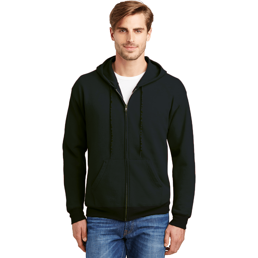 Polo Republica Mens Solid Fleece Zipper Hoodie Men's Zipper Hoodie Image Black S