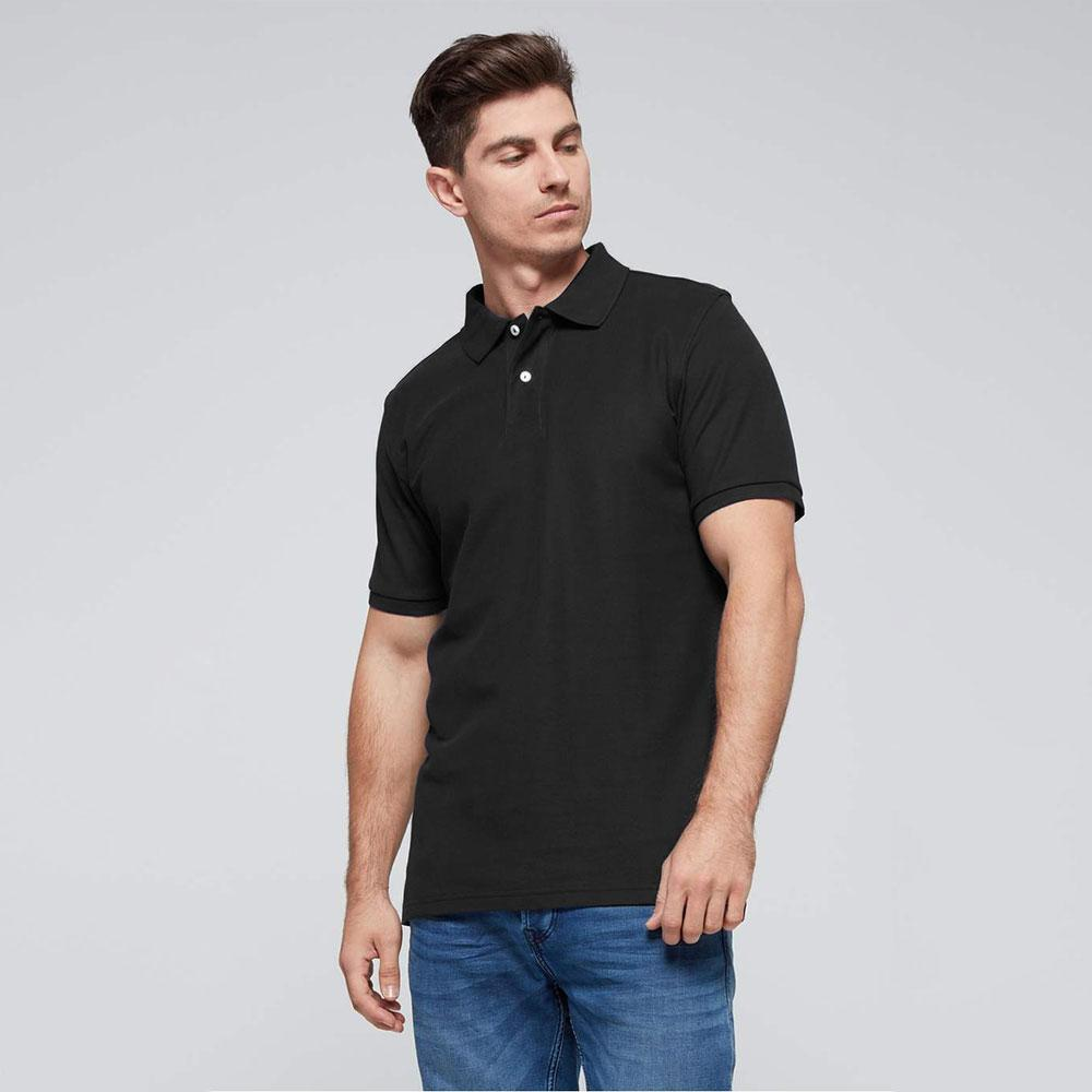 Men's Classic Barracuda Polo Shirt Men's Polo Shirt Fiza Black S