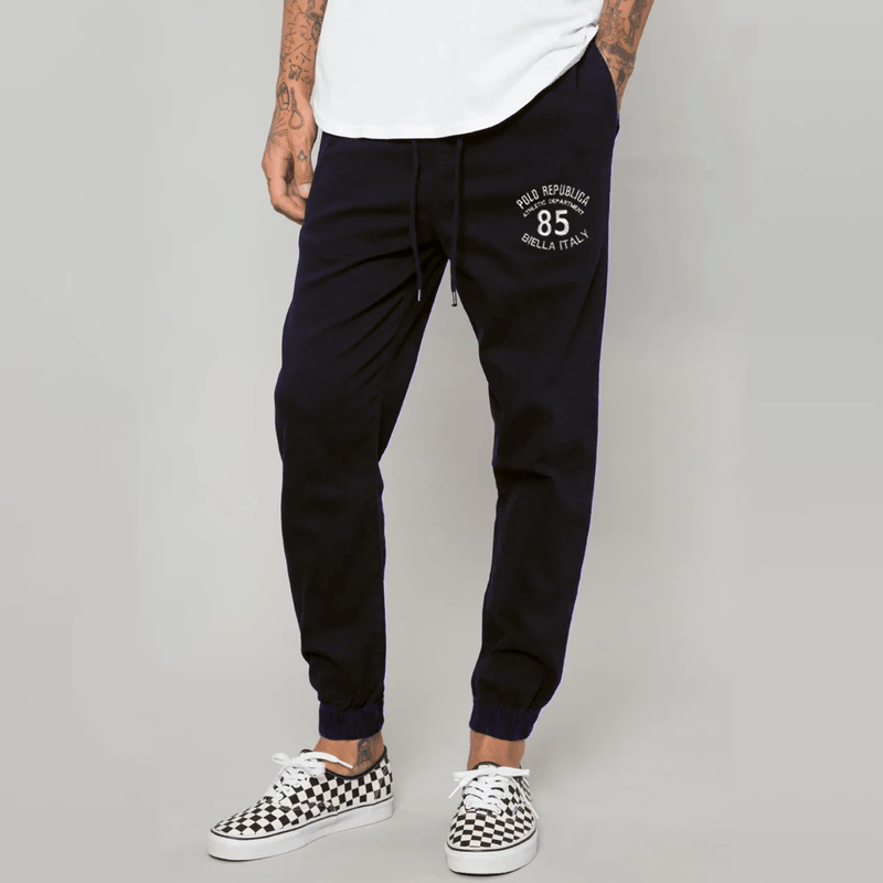 Polo Republica 85 Biella Italy Fleece Jogger Pants Men's Jogger Pants Polo Republica Navy S