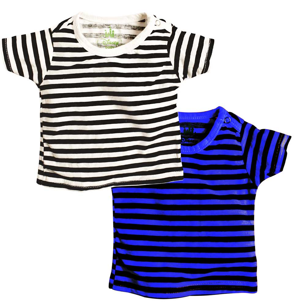 DSY Baby's Twinning Stripes Tee Shirt Pack of 2