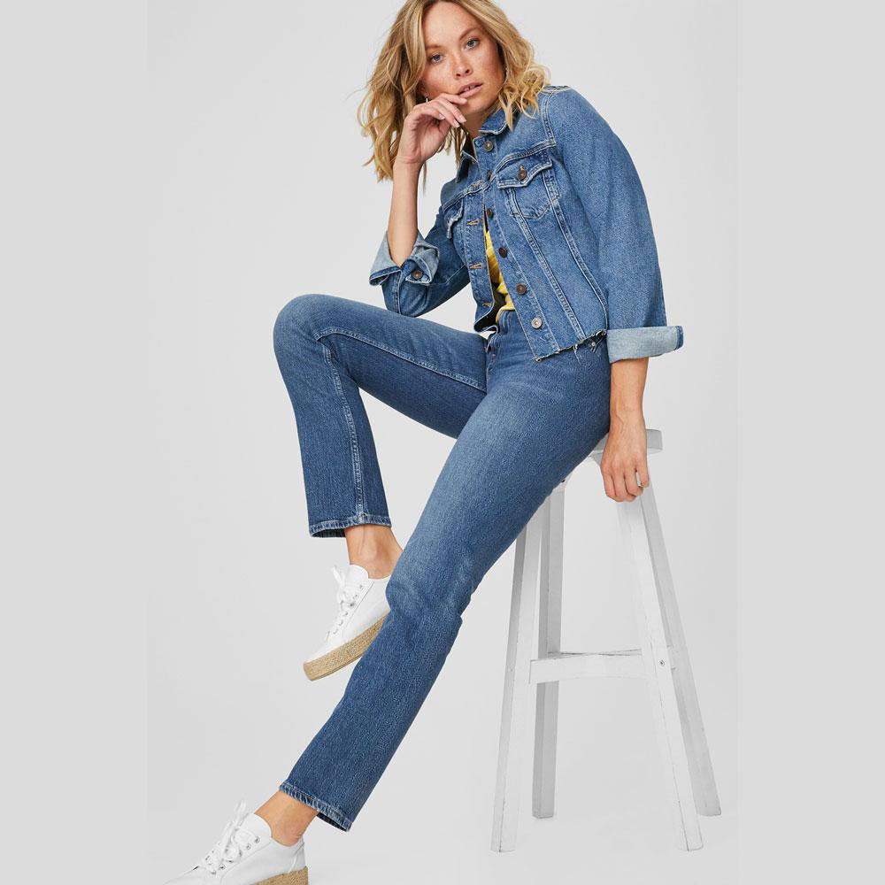 LGG Women's Paramus Straight Fit Denim Women's Denim SRK Blue 24 26