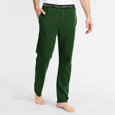 Polo Republica Vodice Casual Jersey Lounge Pants Men's Sleep Wear Polo Republica Bottle Green S