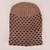 MB Sleek Doted Style Winter Knitted Beanie Cap Unisex Beanie MB Traders Brown