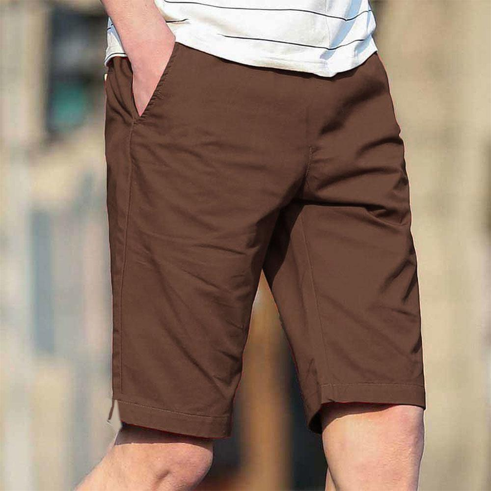 Men's Manila Plain Casual Shorts Men's Shorts UMAR TRADERS Brown 34