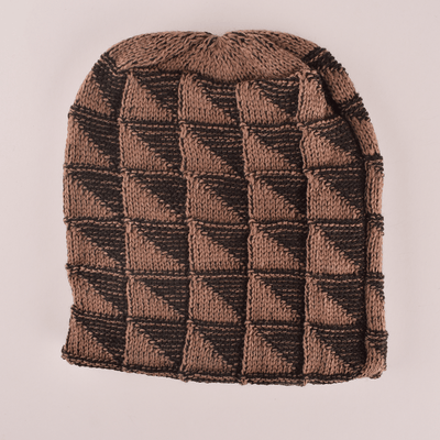 MB Mellow Winter Knitted Beanie Cap Unisex Beanie MB Traders Brown