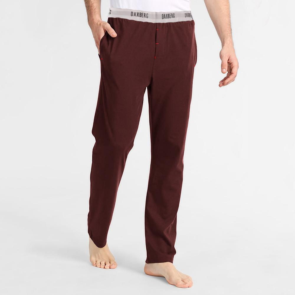 Polo Republica Men's 19-31A20 Pique Casual Lounge Pants Men's Sleep Wear Polo Republica Daxberg Burgundy S