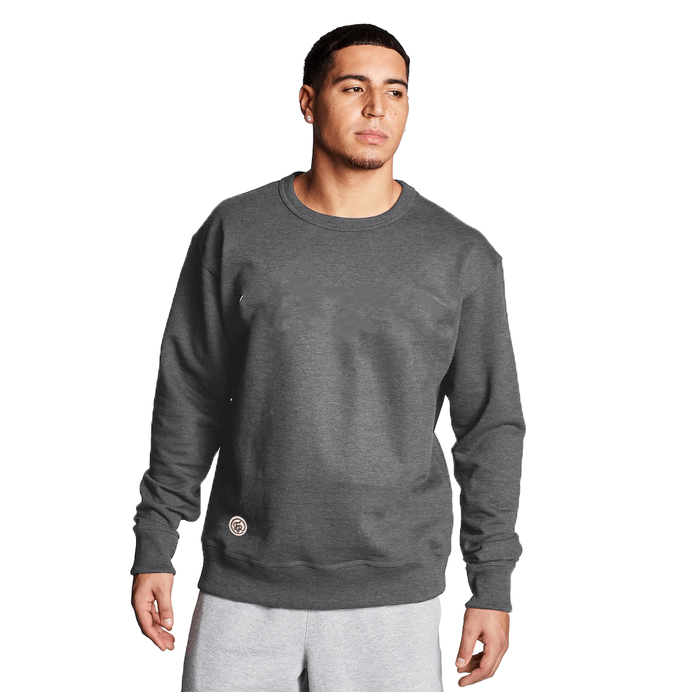 FR Cut Label Men's Placid Fleece Sweat Shirt Men's Sweat Shirt Fiza Charcoal S