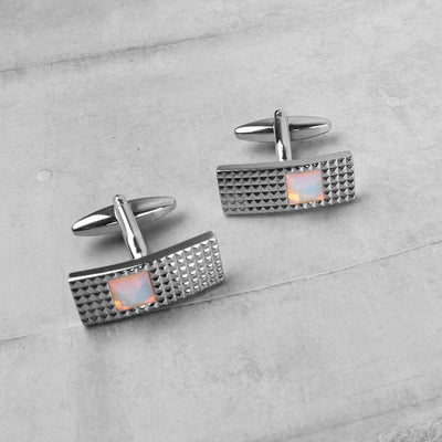 Charming Design Men's Stainless Steel Silver Cufflinks Men's Accessories ALN D13