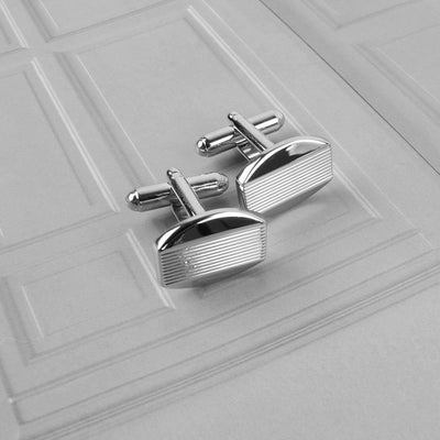 Charming Design Men's Stainless Steel Silver Cufflinks Men's Accessories ALN D4