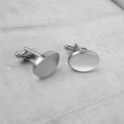Charming Design Men's Stainless Steel Silver Cufflinks Men's Accessories ALN D6