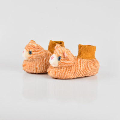 ANF Cat Shape Kids Plush Slip On Shoes Boy's Shoes ANF Mustard EUR 22/23