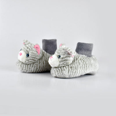 ANF Cat Shape Kids Plush Slip On Shoes Boy's Shoes ANF Grey EUR 22/23