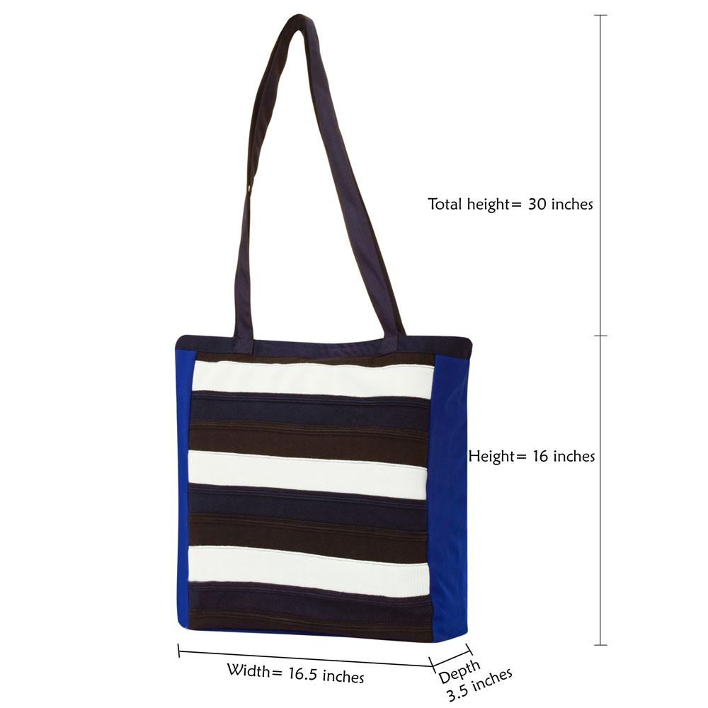 Polo Republica Assorted Colored Panels Tote Bag With Velcro Closure Hand Bag Polo Republica