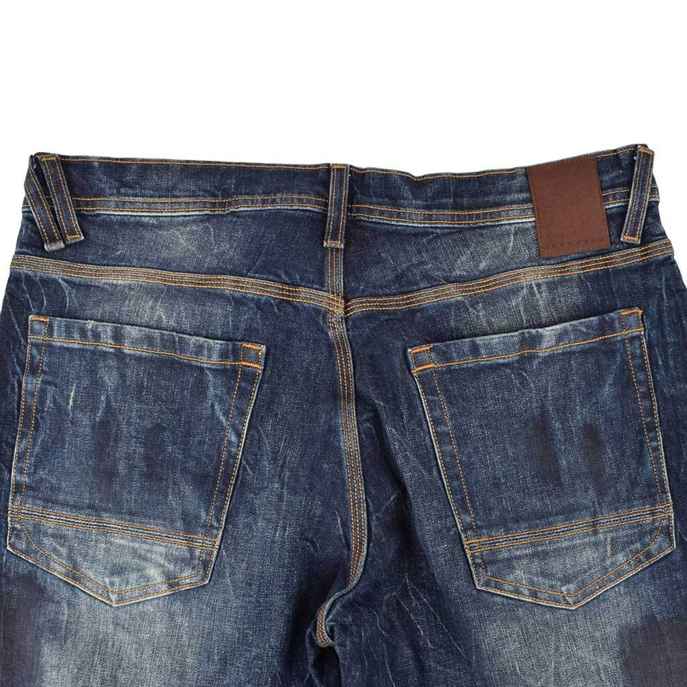SNJ Athlete Relaxed Tapered-Fit Stretch Denim Men's Denim SRK