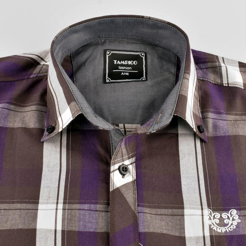 AHE Tampico Fashion Dreamy Check Design Casual Shirt Men's Casual Shirt AHE M