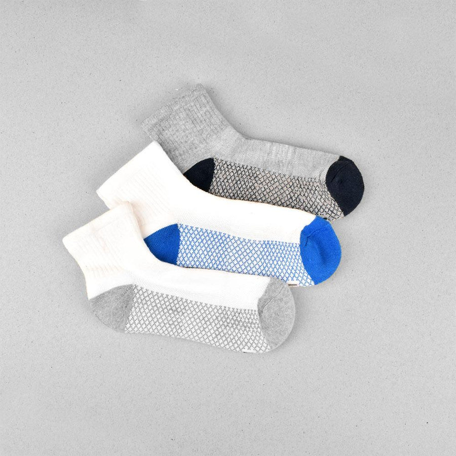 Kid's Anderson Pack of 3 Pairs Assorted Color Quarter Socks