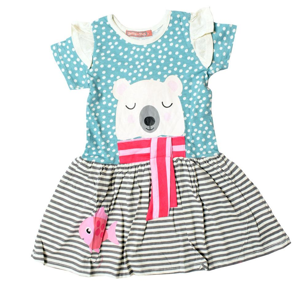 JTP Girl's Amelia Polar Bear Knit Casual Frock Girl's Frock SRK
