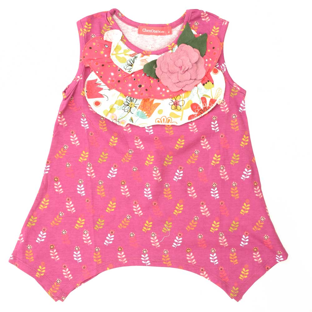 JTP Girl's Beverly Floral Sleeveless Casual Frock Girl's Frock SRK 2 Years