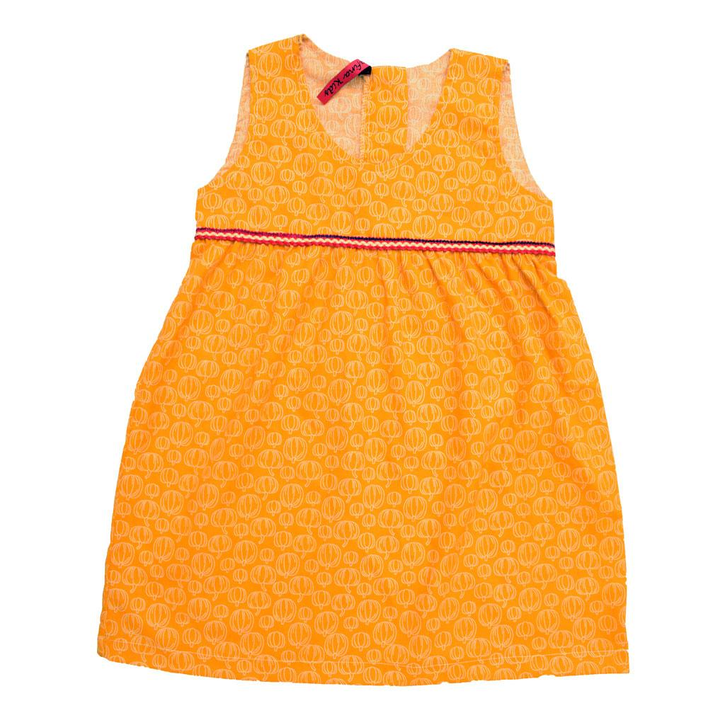 Safina Kid's Ensley Pumpkin Printed Sleeveless Frock Girl's Frock Bohotique