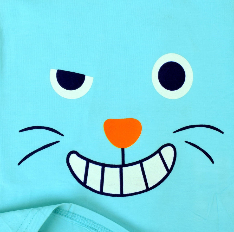 Kid's Cartoon Smile Tee with Trouser Set - ExportLeftovers.com