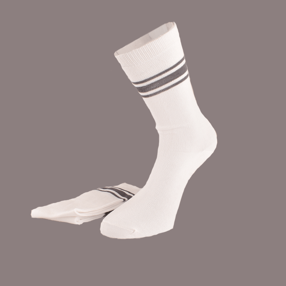 Polo Republica Kid's Opulent Pack of Two Crew Socks Socks RKI White Black EUR 28-30
