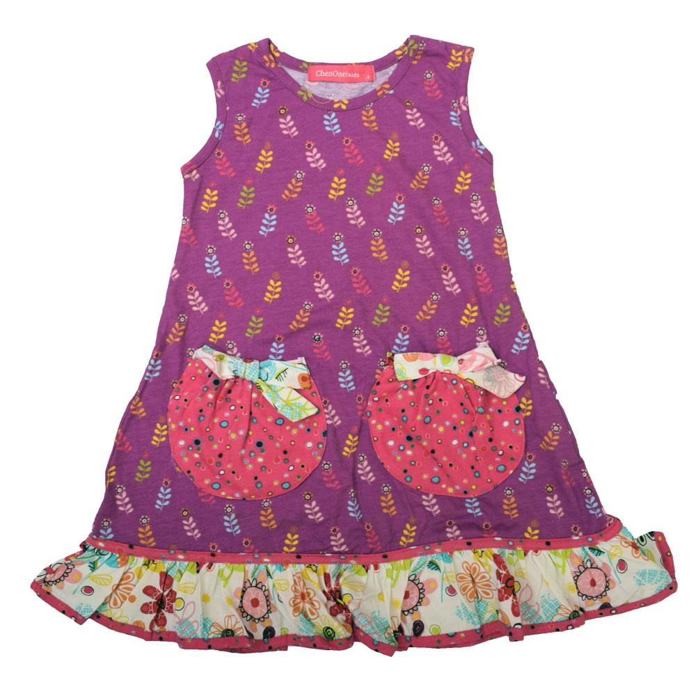 JTP Girl's Everly Floral Knit Casual Frock Girl's Frock SRK