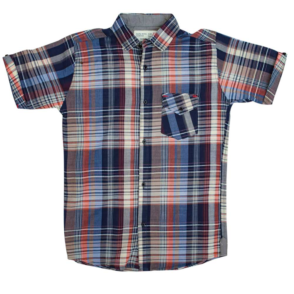 SRT Boy's Wadena Short Sleeves Casual Shirt Boy's Casual Shirt SRT 16 (2-3 Years)