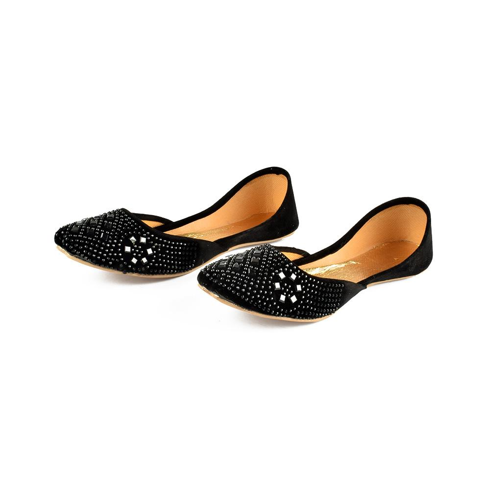 Hpral Luxurious Women's Stone Velvet Khussa Women's Shoes Hpral