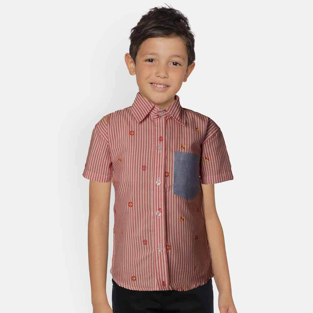 Kid's Harbour Short Sleeve Casual Shirt Boy's Casual Shirt MHJ 2-3 Years