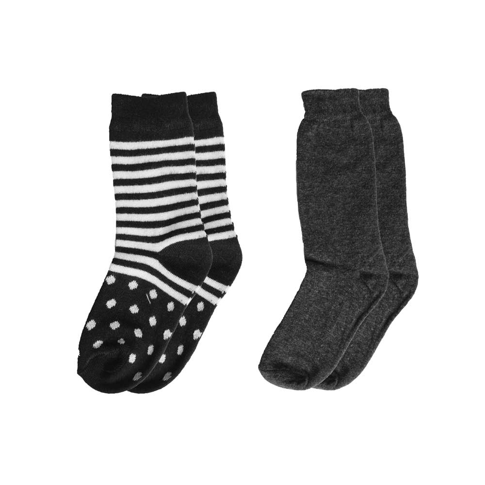 RKI Kid's Blake Contrast Anklet Socks Pack of 2 Socks RKI Assorted EUR 31-32