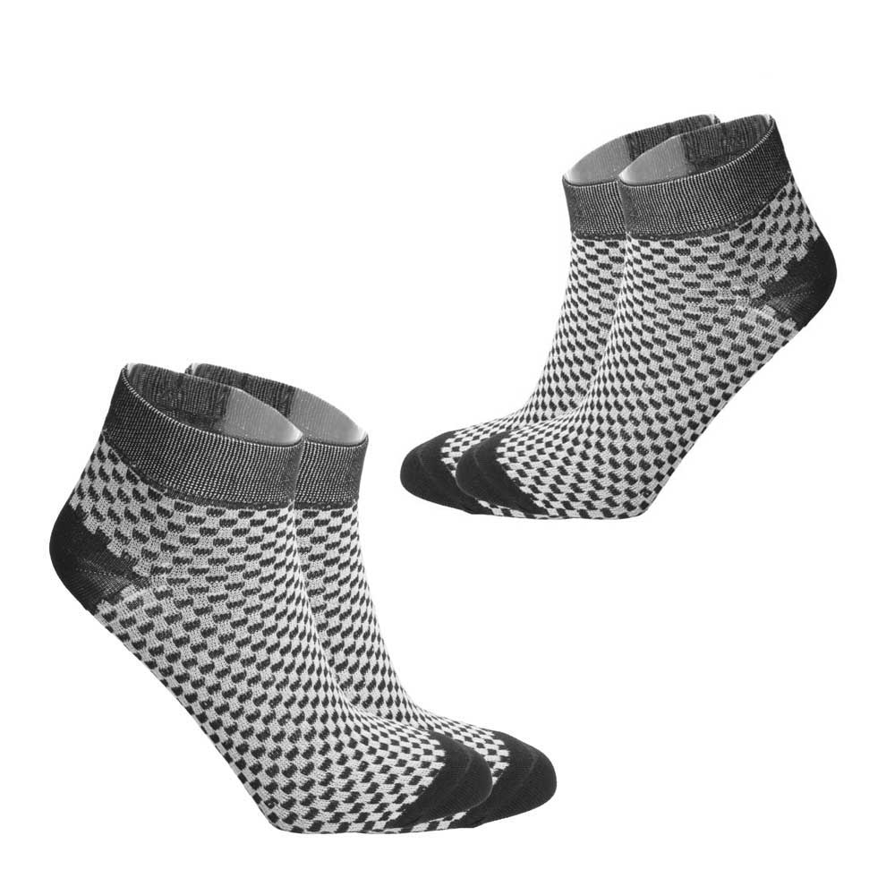 RKI Women's Salgado Checkered Socks Pack of 2 Women's Accessories RKI Black EUR 33-38