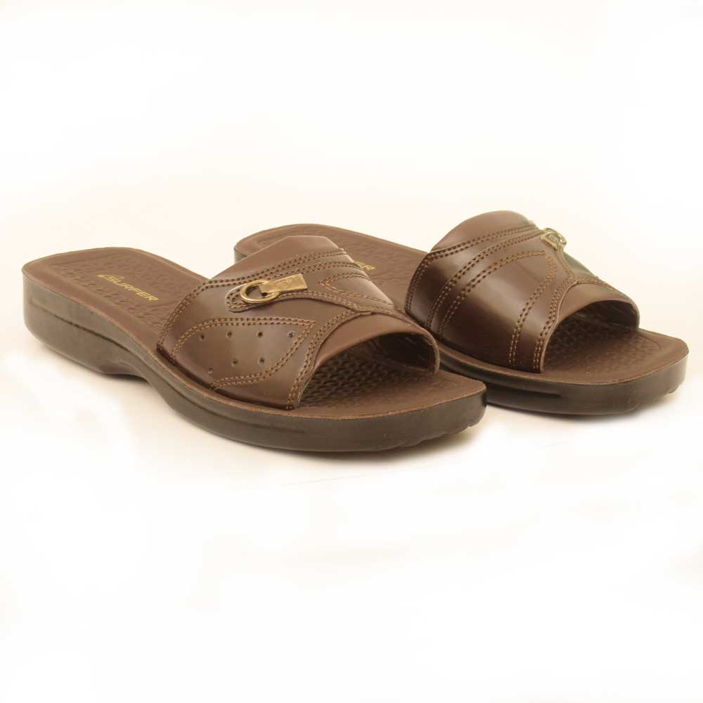 Starlet Men's Surfer WK-04 Slippers Men's Shoes Starlet Shoes Brown 6 (US)