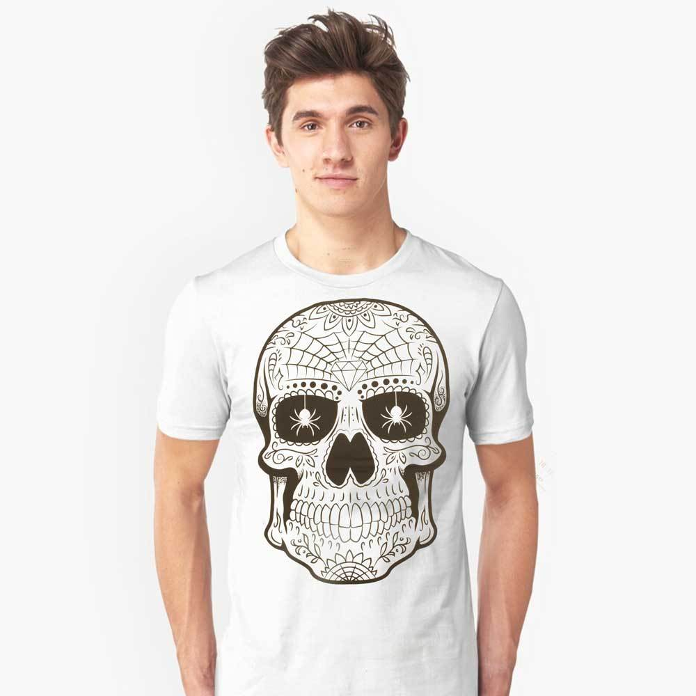 Men's Printed Crew Neck Tee Shirt Calavera Men's Tee Shirt SRK XS