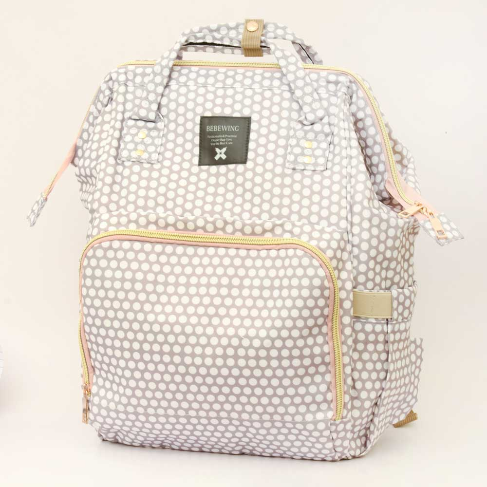 Bebewing Printed Baby Diaper Backpack Bag Women's Accessories Sunshine China Polka Print