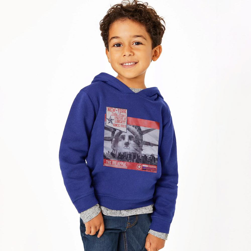 Soho Boy's Statue Of Liberty Pullover Hoodie Boy's Pullover Hoodie AGZ Royal 140