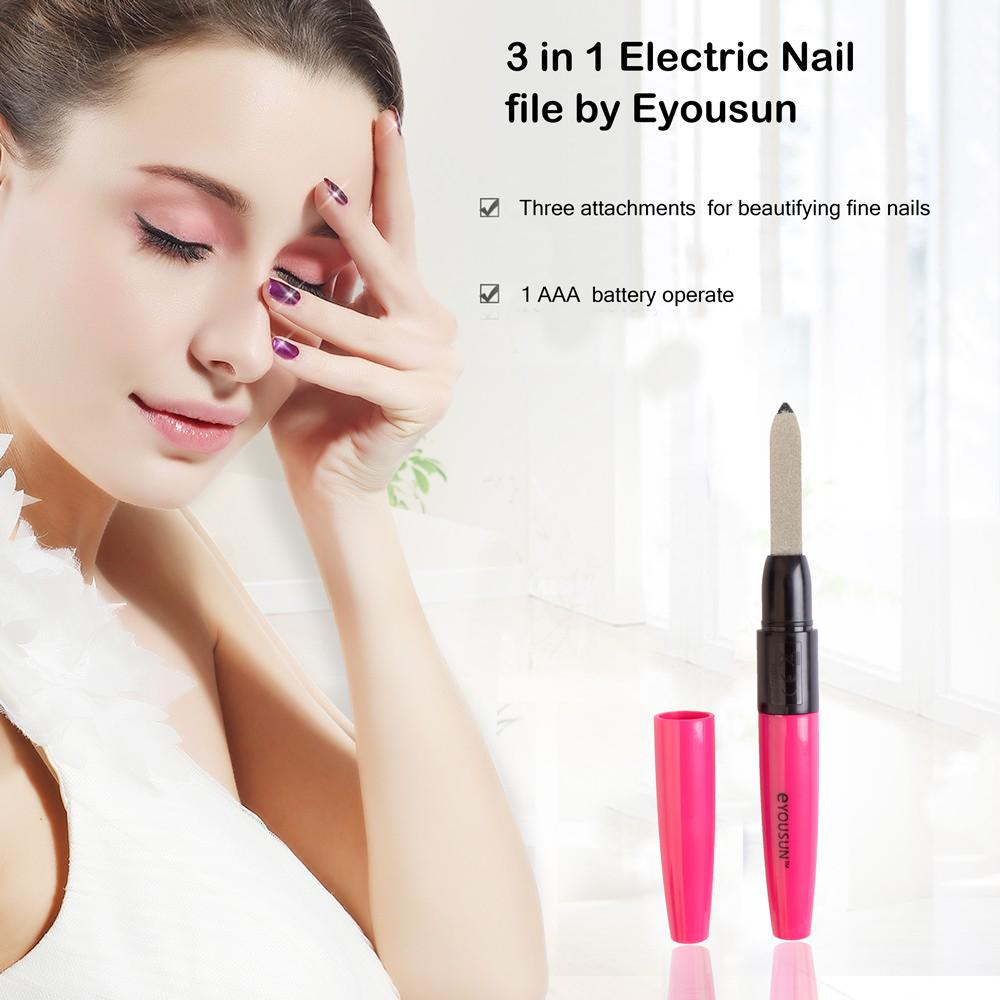 3 in 1 Electric Nail file by Eyousun Health & Beauty CPUQ