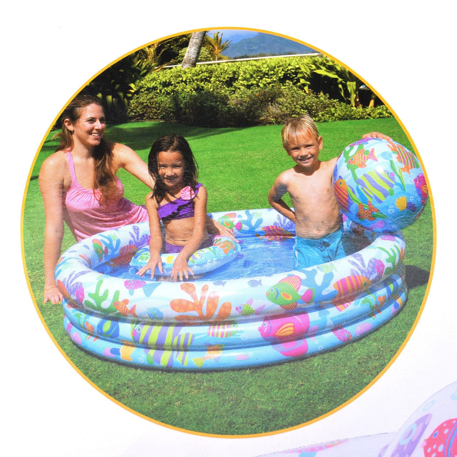Intex Swimming Pool Large With Swim Tube and Inflatable Ball - ExportLeftovers.com