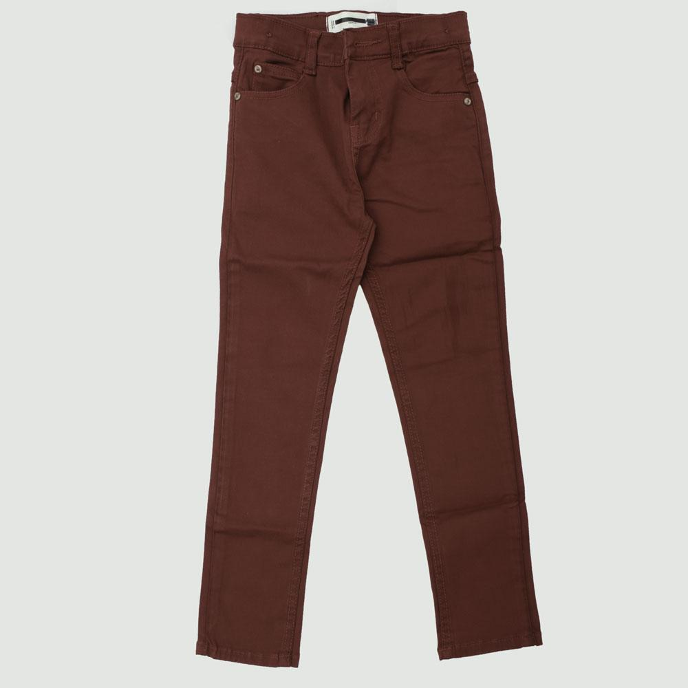 MNG Boy's Cowan Stretchable Denim Boy's Denim SRT Burgundy 18-24 Months