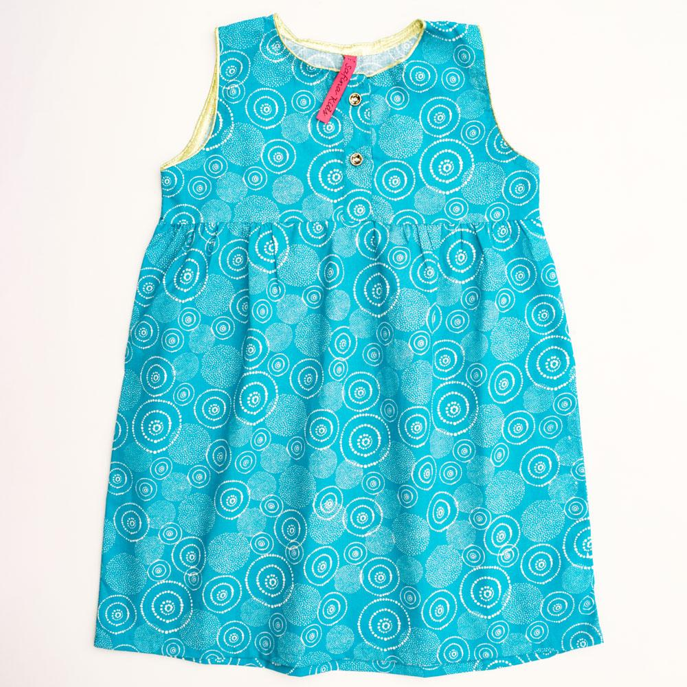 Safina Kid's Whirlpool Printed Sleeveless Frock Girl's Frock Bohotique 2-3 Years