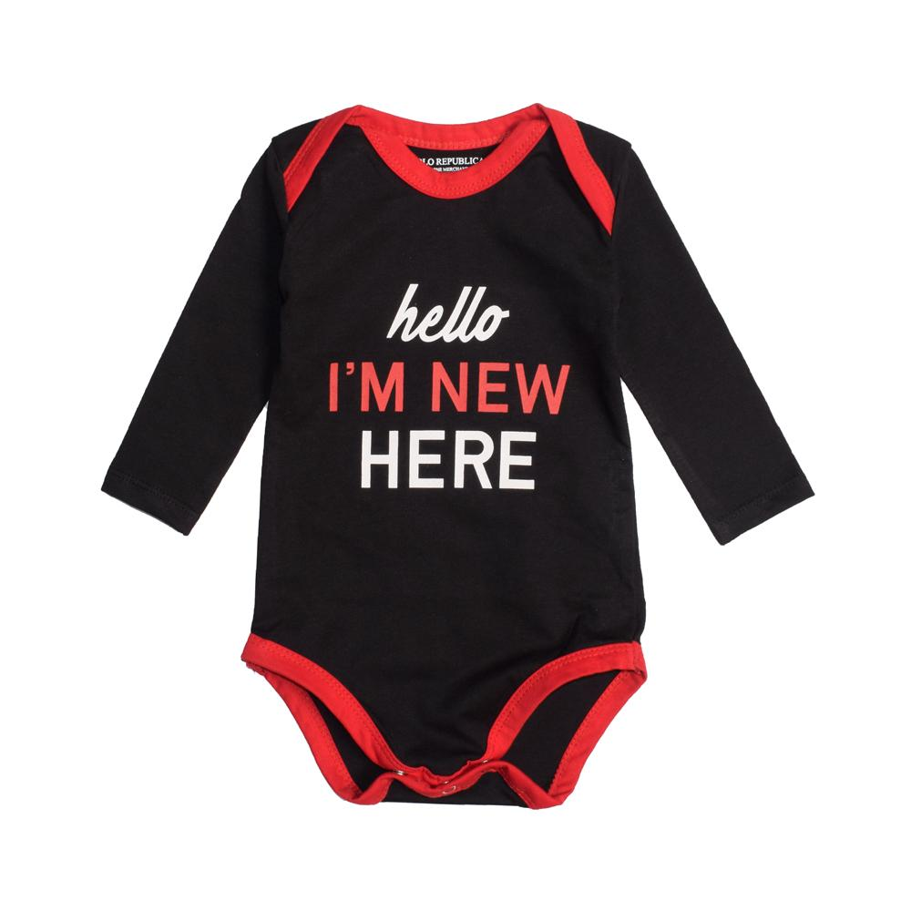 Polo Republica New Here Long Sleeve Baby Romper Romper Polo Republica