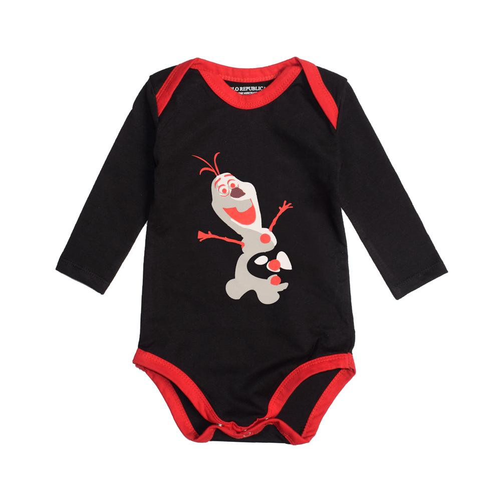 Polo Republica Long Sleeve Eufaula Baby Romper Romper Polo Republica Black Red 0-3 Months