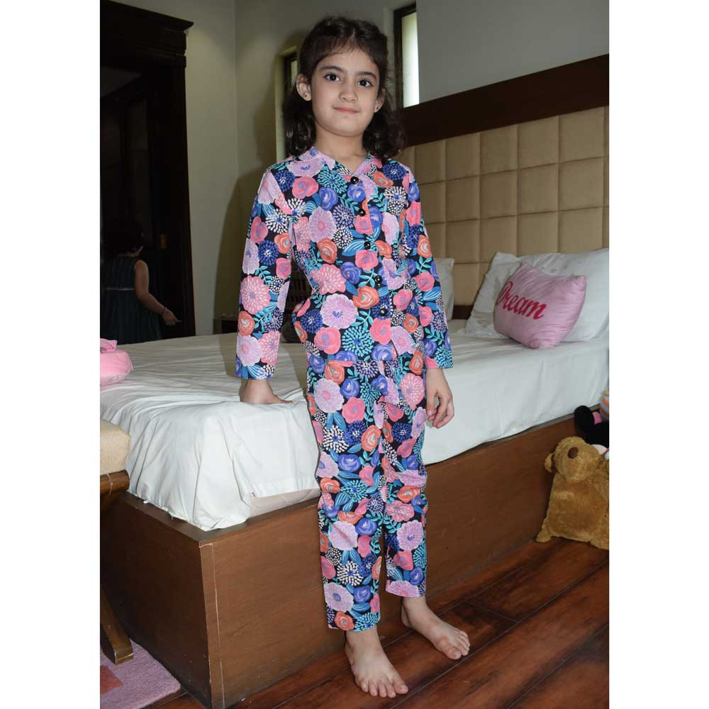 Safina Kid's Floral Printed Night Suit Boy's Sleepwear Image