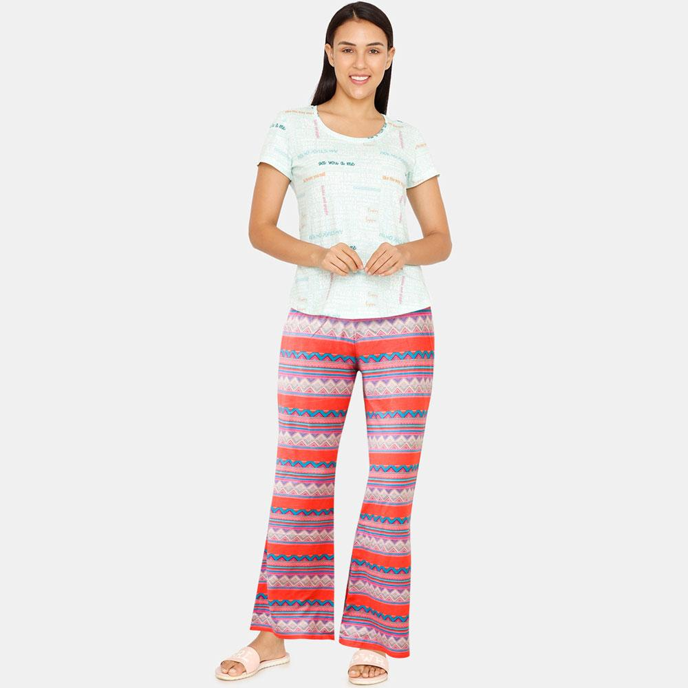 JTP Women's Delilah Printed Flared Pajamas Women's Trousers SRK
