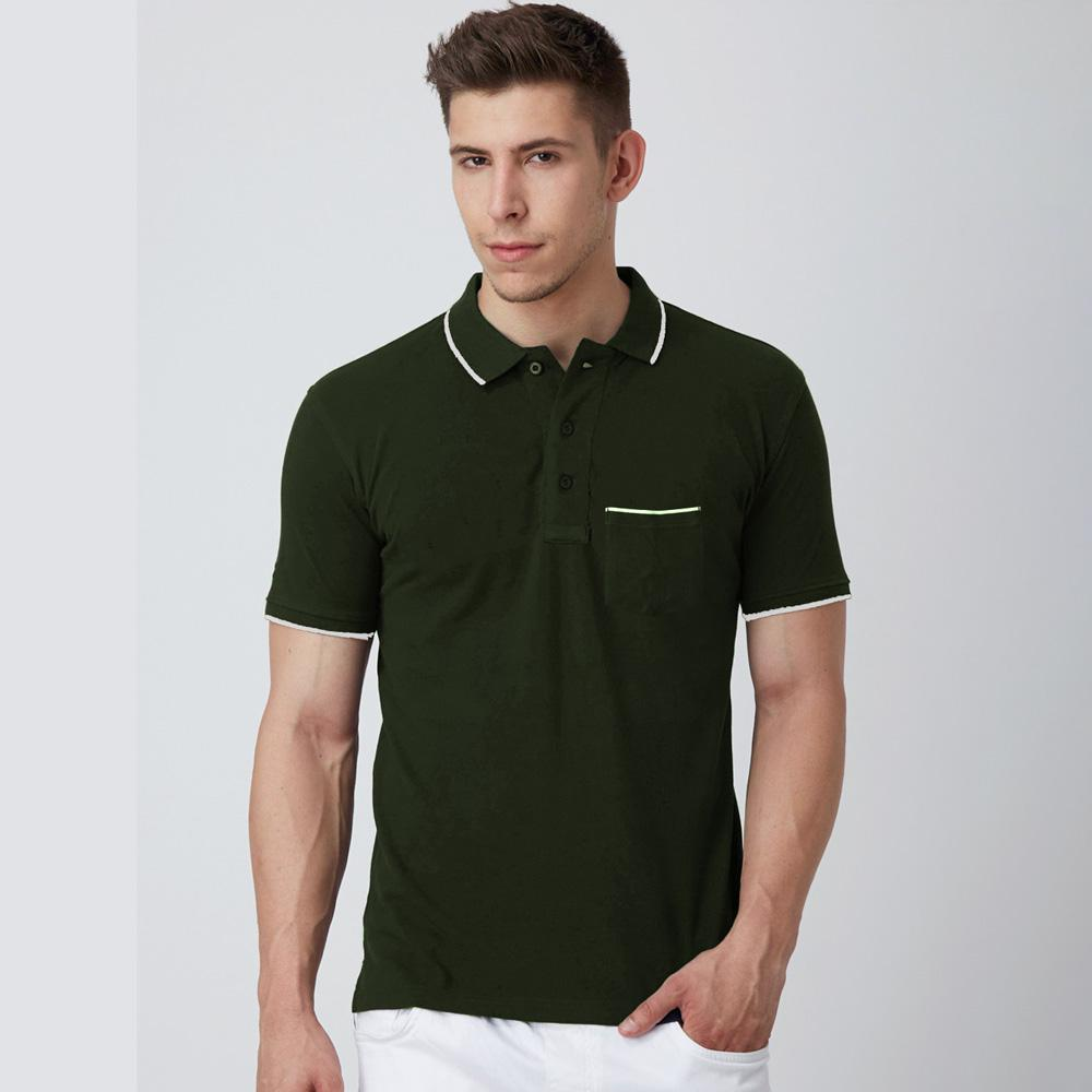 Men's Montpelier Tipped Polo Shirt Men's Polo Shirt SRK Dark Olive M
