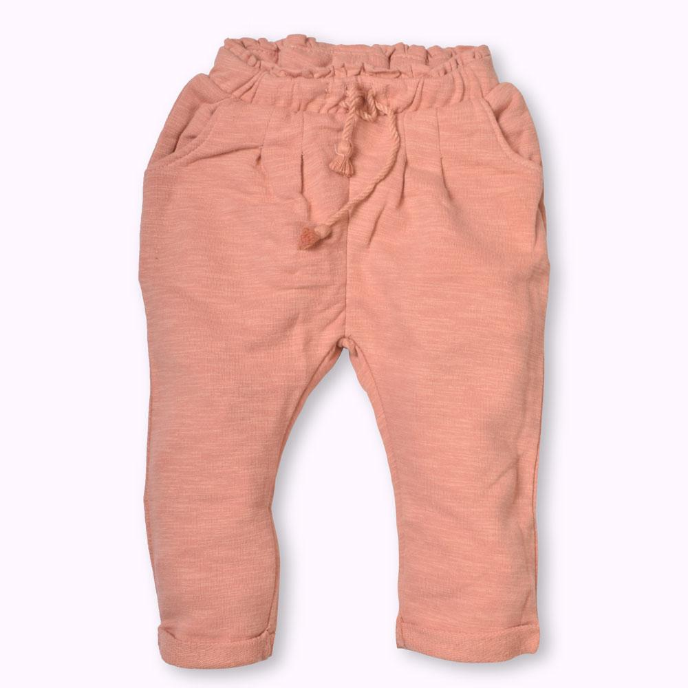 Genuine ZR Baby Girls Terry Trousers Boy's Trousers SNC Peach 12-18 Months