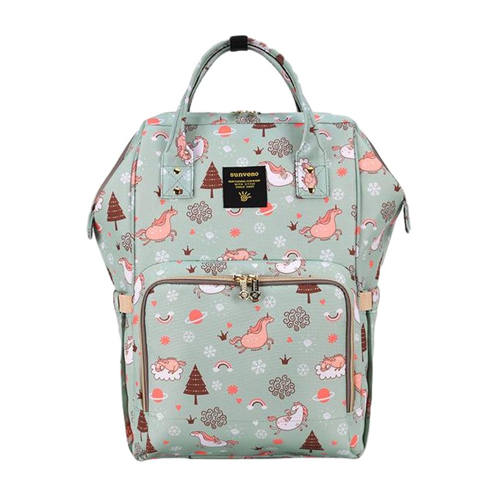 Bebewing Printed Baby Diaper Backpack Bag Women's Accessories Sunshine China Green Dream