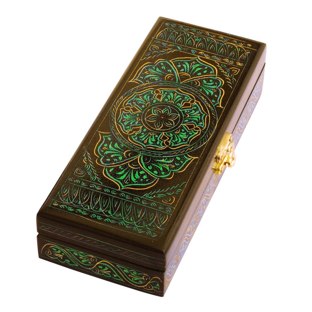 Beautiful Rectangular Shaped One Piece Jewelry Box Jewellery SAK Green