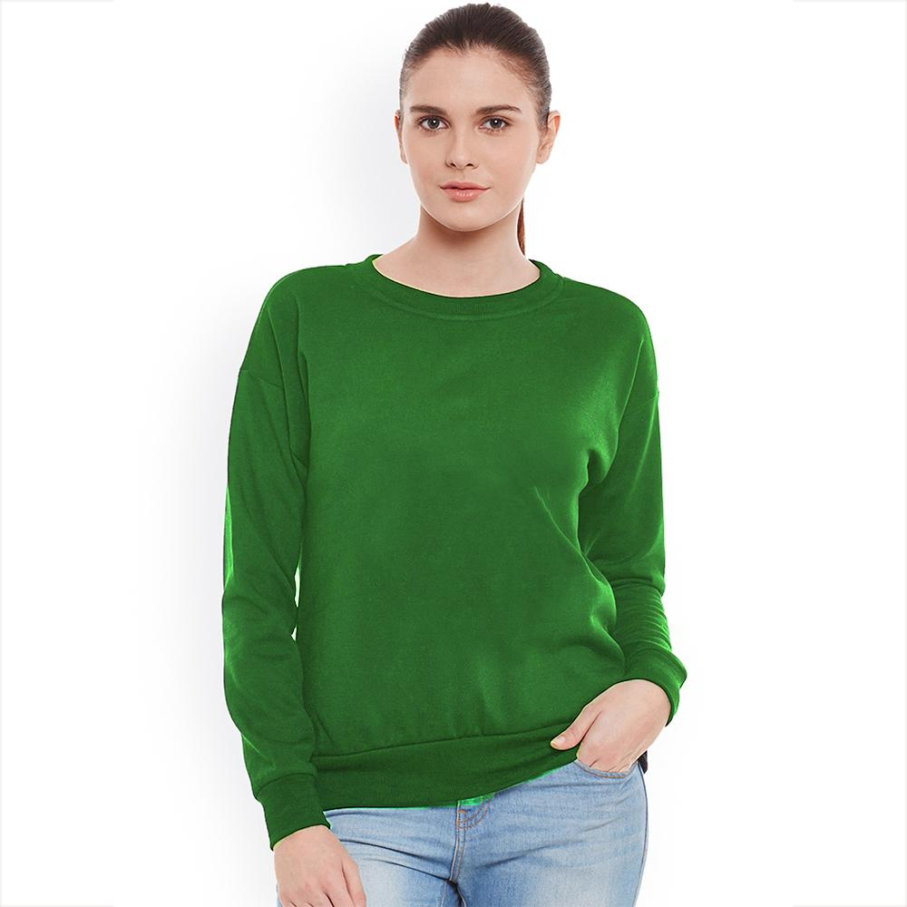 SK Women's Cut Label Deluxe Fleece Sweatshirt Women's Sweat Shirt SRK Green S