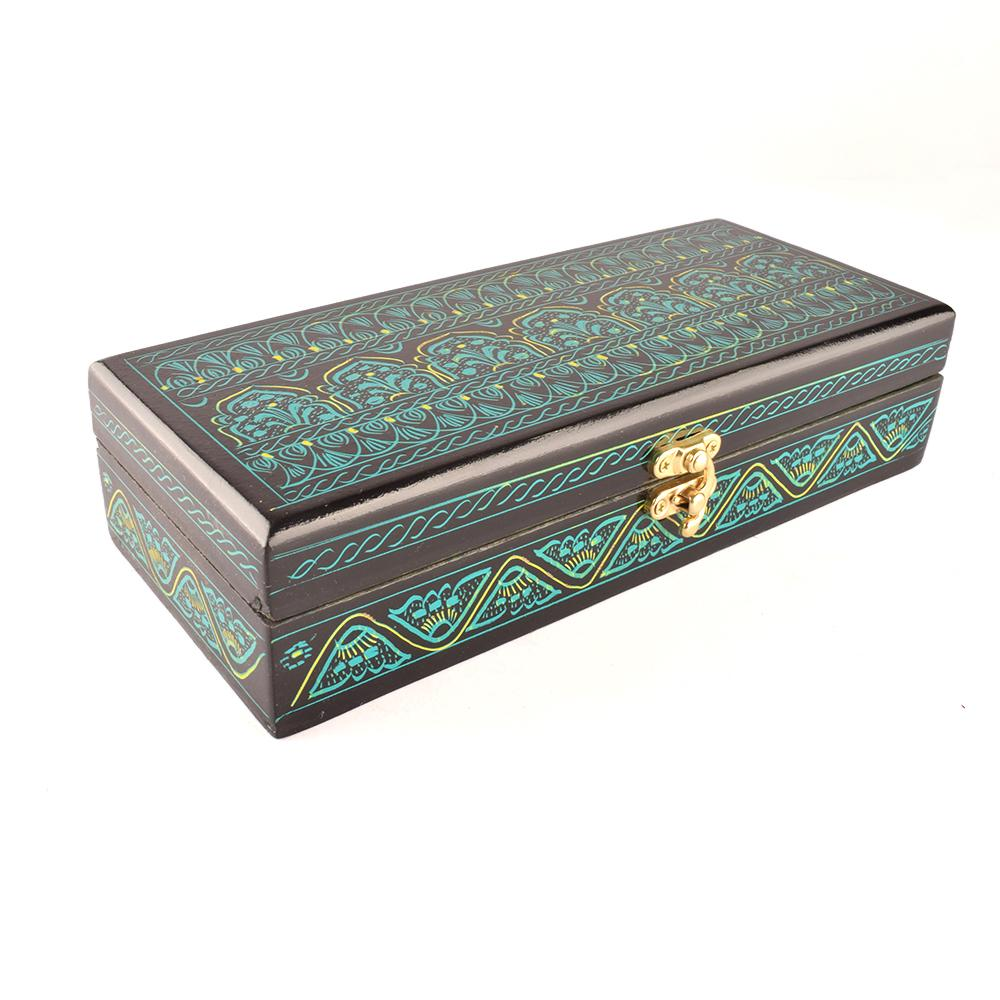 Decorous Rectangular Shaped One Piece Jewelry Box Jewellery SAK Green