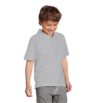 Totga Short Sleeve Polo Shirt Boy's Polo Shirt Image Heather Grey XS